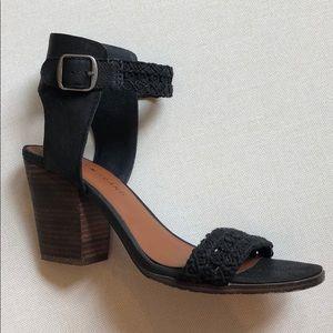 Lucky brand black chunk heels size 8